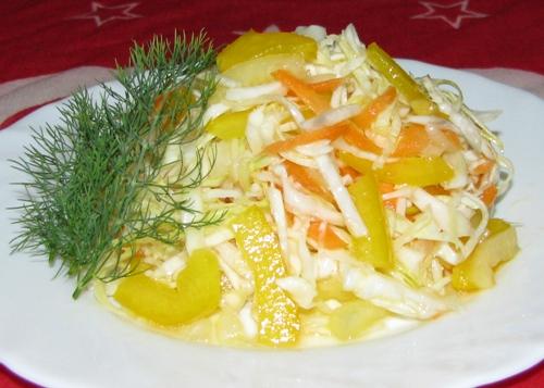 салат с капустой и перцем