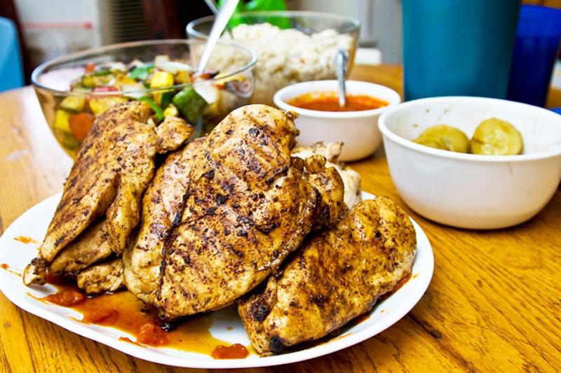 курицы на бакбекю
