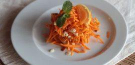 Салат морковный с курагой