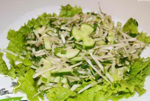 салат с топинамбуром и огурцом