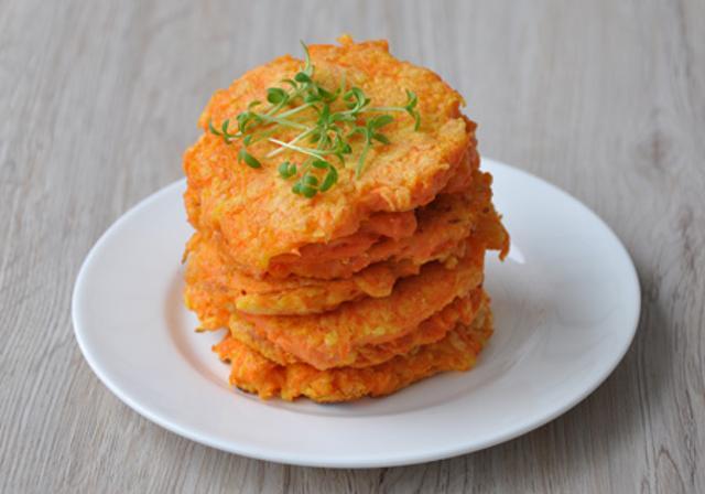 оладьи с морковью и топинамбуром